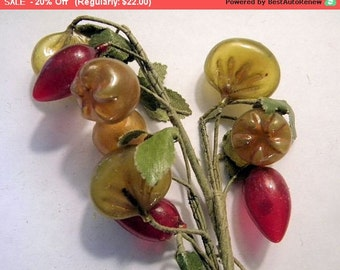 On SALE - Adorable Vintage Millinery Fruit and Berries