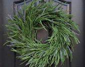 """LAVENDER WREATH, Purple Lavender Wreaths, Lavender Fields, Fields of Lavender, Wreath Lavender, Storm Door Wreath, 4"""" Thin Wreath"""