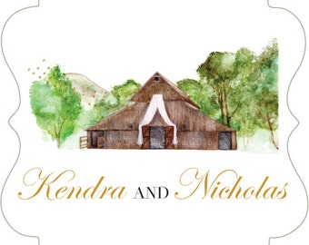 Custom Watercolor Wedding Stationery