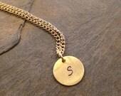Initial Necklace - Minimalist Jewelry - Birthstone Necklace - Crystal Necklace - Personal Necklace -Personalized Jewelry