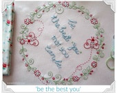 Be the Best You - stitchery pattern, tutorial & project