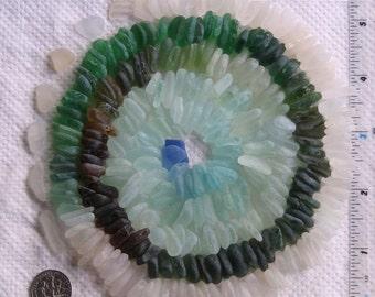 300 Sea Glass Shards Imperfections Art Mosaic Craft Supplies (1855)