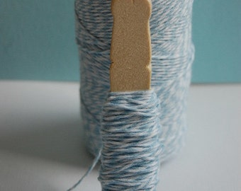 Shore Baby Blue Bakers Twine on a Clothespin-Crafts-Bake Sale-Gift Wrap-Packaging-Birthday Party-Cardmaking-Tagmaking-Favors-Ready to Ship