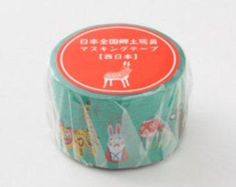 Japanese folk toys - limited edition masking tape - mt x yu nakagawa - west japan -