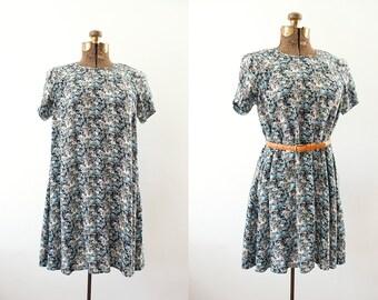 1990's Floral Mini Dress SMALL/MEDIUM