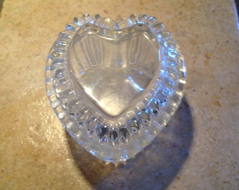 Crystal Heart Trinket Box by Homco