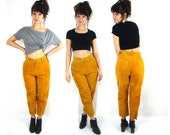 80s suede pants / petite / small