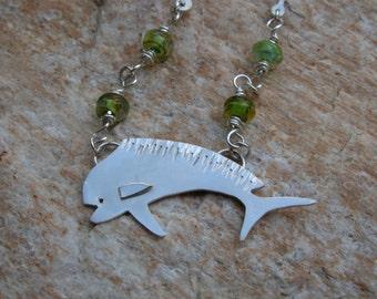 Sterling mahi mahi dorado dolphin fish necklace