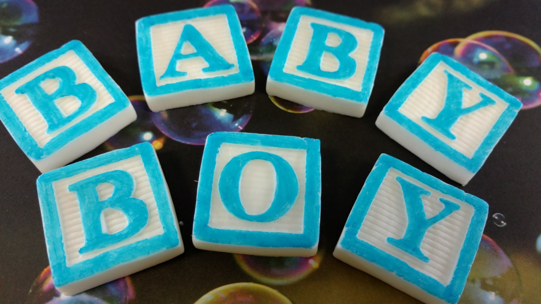 edible fondant baby boy blocksbaby blocksfondant baby