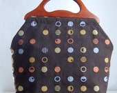 Inner Circle Large Craft Project Tote/ Knitting Tote Bag - READY TO SHIP