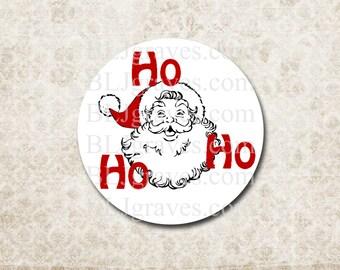 Santa Christmas Stickers Envelope Seals Party Favor Treat Bag Sticker CS007