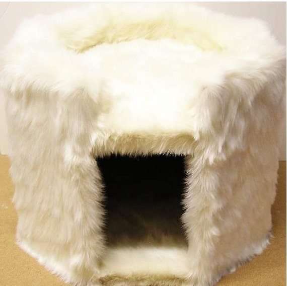 FUR SAMPLE: POLAR Bear Fur Ivory Solid Mink Faux Fur Fake