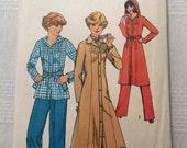 "Simplicity 8113, vintage 1977 dress pants coat sewing pattern, size 14, Bust 36"""