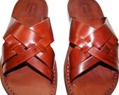 CLEARANCE SALE - Brown Capri Leather Sandals for Men & Women - EURO # 41 - Handmade Unisex Sandals, Genuine Leather Sandals, Sale