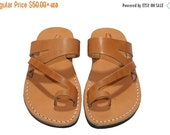 20% OFF Caramel Zing Leather Sandals for Men & Women