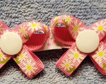 Sweet Daisy -  Snap N Go Dog Hair Bows - Set of 2 or Custom Single