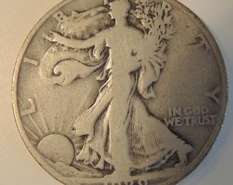 Rare 1929D Walking Liberty Half Dollar - USA Silver Coins - Collectable Coins - FREE Shipping