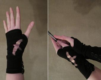 Maleficent Inspired Raven Gloves