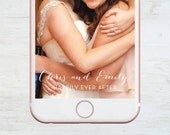 Custom Snapchat Geofilter, , Happily Ever After, Lights, Wedding, Bachelorette, Birthday, Social Media Snap Filter