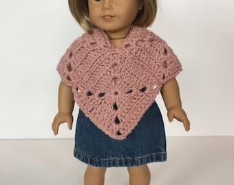 Doll Poncho Crochet PATTERN - American Girl Doll - Doll Poncho Crochet Pattern - Matching girl size available - Meadow Poncho