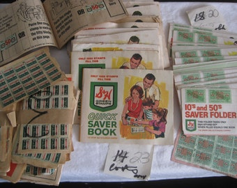S & H green stamps, 43 full books + lots of loose stamps, from the 1980s', still redeemable on line at www.greenpoints.com