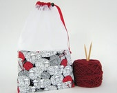 100% Wool Sheep Print At-A-Glance Knitting/Crochet/Spinning Project Bags Large