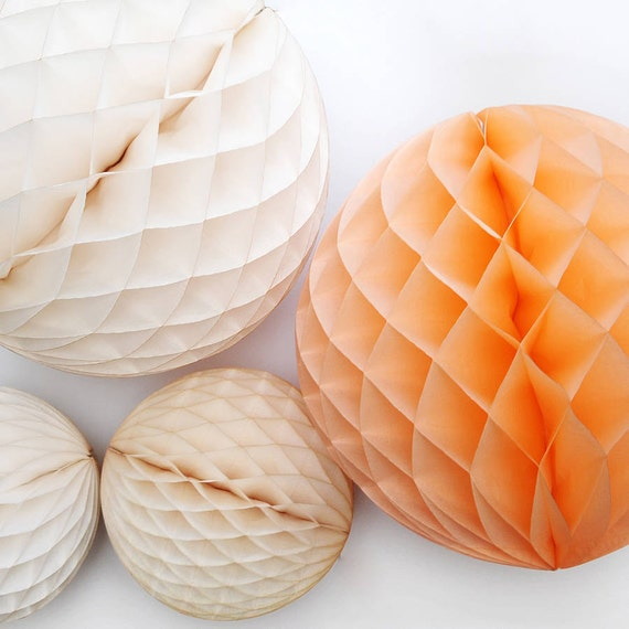 Paper Decoration Balls: HONEYCOMB BALL 14 INCH / Tissue Paper Decorations / By PomLove