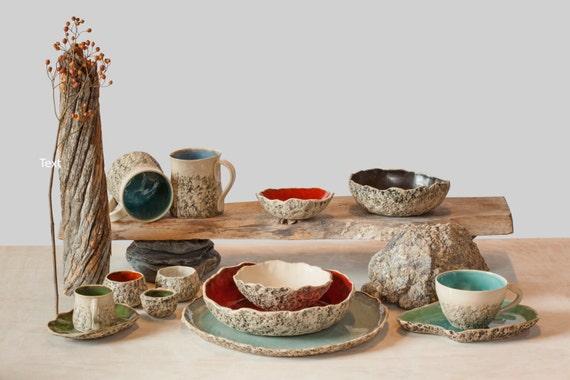 6 suppe sch ssel set handgemachte keramik suppensch ssel. Black Bedroom Furniture Sets. Home Design Ideas
