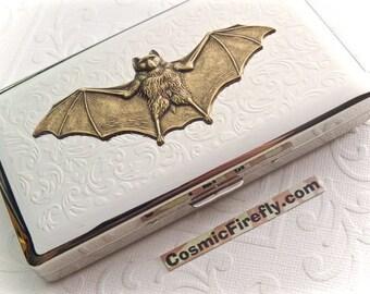 Big Bat Case Bat Cigarette Case New Vintage Style Holds 120's Longs Gothic Victorian Steampunk Case Smoking Accessories Large Case Vampire