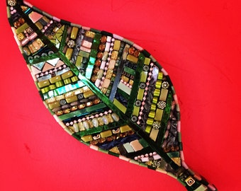 Mosaic Green Leaf