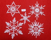 Crocheted Snowflakes - set 17