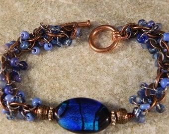Vibrant Blue Lampwork Bracelet