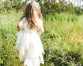 upcycled clothing, ethical fashion, green wedding, flower girl dress . 3 - 4 years