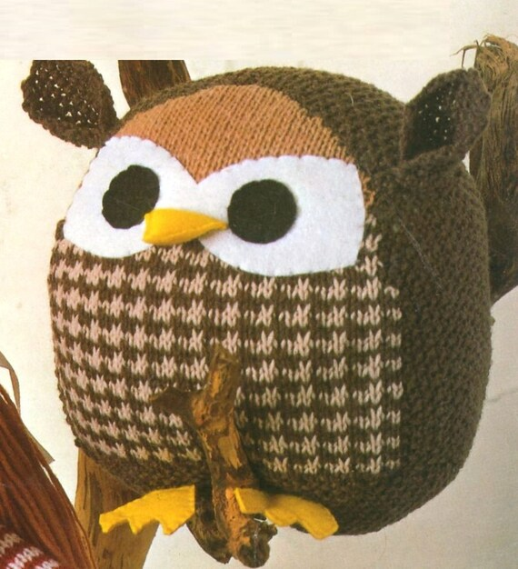 Knitting By Post Owl : Pdf knitting pattern knitted toy doll owl and ball