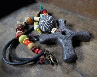 Artisan made tribal necklace - Katanga Nzambe - OOAK