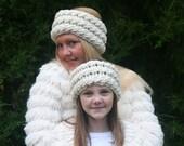 Cabled Crochet Ear Warmer