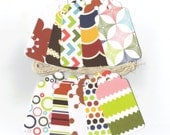 Clearance Sale / Assorted Large Scallop Die Cut Gift Hang Tags (Set of 10) (C3)