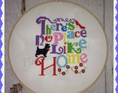There is No Place Like Home/Oz Inspired Cross Stitch Embroidery Design