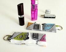 Lipstick, Lip Balm, Chapstick, USB Memory Stick, Lighter Keyring Holder or Bag Charm - Campervan