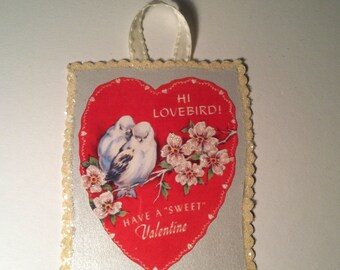 Valentine Greeting Card with Envelope and Ribbon Hanger