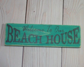 Beach house sign - Beach sign - Beach decor - Beach house decor - Beach house - Coastal decor - Cottage sign - Wall decor - Nautical sign -