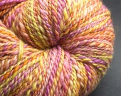 Prairie : handspun yarn wool, worsted, 200 yards / hand painted hand dyed handpainted hand spun