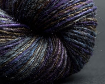 Roxane, HandSpun and Hand dyed blend of silk, alpaca and merino, Single, lace, 180 yards