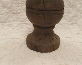 Antique Staircase Finial Ball Architectural Salvage