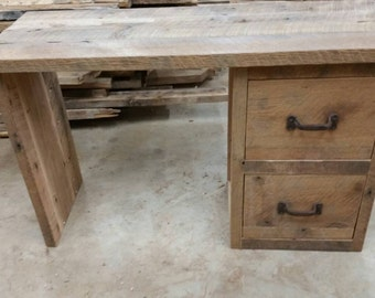YOUR Custom Made Rustic Barn Wood Desk or Make up Cabinet Free Shipping-RBWDC750F
