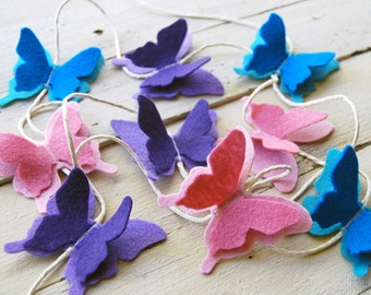 felt butterfly garland