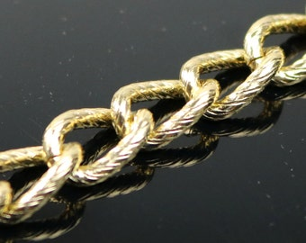 5 ft Aluminum Chain Chunky Texture Curb Chain - Gold TARNISH Resistant Tarnish FREE Anti Tarnished Gold Finished  - 16x12mm 2.6mm - A047