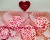Valentine's Day Chocolate Covered Oreos Cookies Box of 8 Cookies FREE GREETING CARD Pink Valentine Treats Party Favors Valentine  Wedding