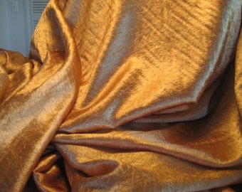 Lovely Soft Gold Shimmery Fabric Yardage 43 w