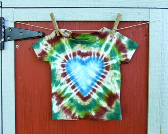 18m Baby Tie Dye T-Shirt - Forest Love - Ready to Ship